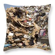 Mound Of Recyclables Throw Pillow
