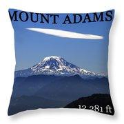 Mount Adams Poster  Throw Pillow