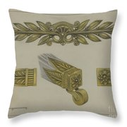 Mount And Cup Caster Throw Pillow