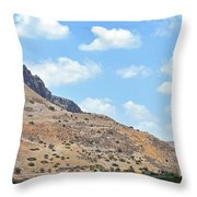 Mount Arbel 5 Throw Pillow