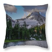 Mount Assiniboine In Clouds Throw Pillow