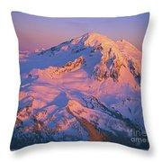 Mount Baker At Sunset Throw Pillow
