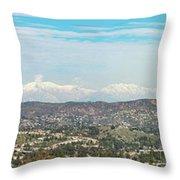Mount Baldy And Mountain High Throw Pillow