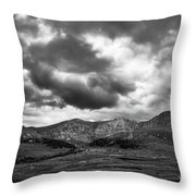 Mount Bierstadt Black And White Throw Pillow