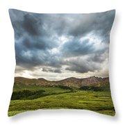 Mount Bierstadt Cloudy Evening 2x1 Throw Pillow