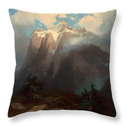 Mount Brewer From King's River Canyon - California Throw Pillow