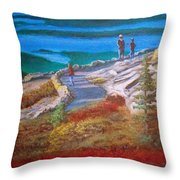 Mount Cadilac Path Throw Pillow