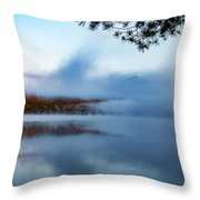 Mount Chocorua Peeks Above The Fog Throw Pillow