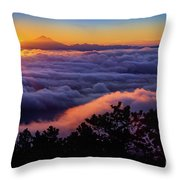 Mount Constitution Sunrise Throw Pillow