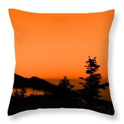 Mount Craig Above Sunset Throw Pillow