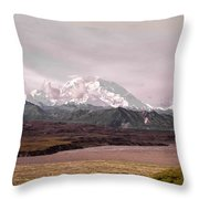 Mount Denali Throw Pillow