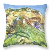 Mount Diablo From Curry Valley Ridge Throw Pillow