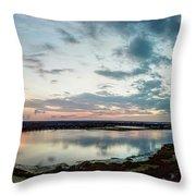 Mount Dora Fl Sunset Throw Pillow