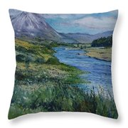 Mount Errigal Co. Donegal Ireland. 2016 Throw Pillow