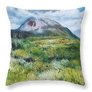 Mount Errigal County Donegal Ireland 2016 Throw Pillow