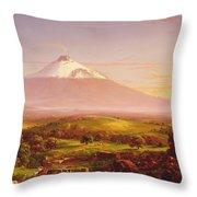 Mount Etna Throw Pillow