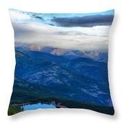 Mount Evans Painterly 2  Throw Pillow