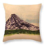 Mount Fuji And Power Of Mystery Throw Pillow