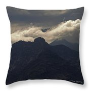 Mount Graham Mountain In Arizona Throw Pillow