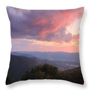 Mount Greylock Sunset Throw Pillow