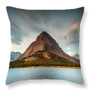 Mount Grinnell In Glacier Np Throw Pillow