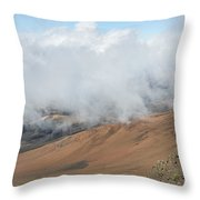 Mount Haleakala Crater Throw Pillow