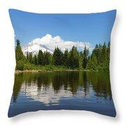 Mount Hood By Mirror Lake Throw Pillow