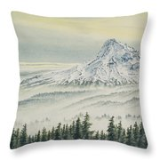 Mount Hood Evening Throw Pillow
