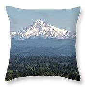 Mount Hood In The Summer Throw Pillow