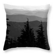 Mount Hood National Forest Throw Pillow