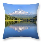 Mount Hood On A Sunny Day Throw Pillow