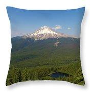 Mount Hood Over Mirror Lake Throw Pillow
