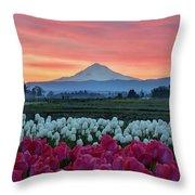 Mount Hood Sunrise Throw Pillow