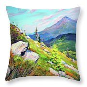 Mount Hoverla Throw Pillow