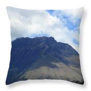 Mount Imbabura And Cloudy Sky Throw Pillow
