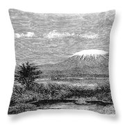 Mount Kilimanjaro, 1884 Throw Pillow