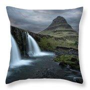 Mount Kirkjufell Iceland Throw Pillow
