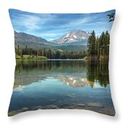 Mount Lassen From Manzanita Lake Throw Pillow