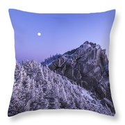 Mount Liberty Blue Hour Throw Pillow