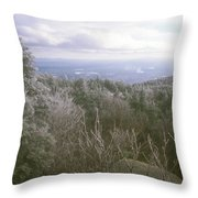 Mount Monadnock Ice Storm Throw Pillow