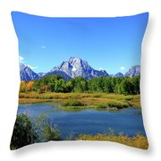 Mount Moran, Grand Tetons National Park, Wyoming  Throw Pillow