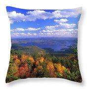 Mount Morgan Squam Lake Foliage Throw Pillow