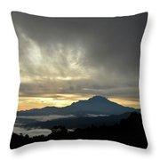 Mount Of Borneo Malaysia Throw Pillow