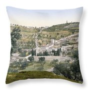 Mount Of Olives, C1900 Throw Pillow
