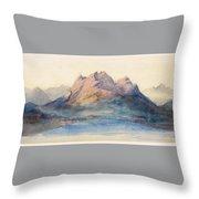 Mount Pilatus From Lake Lucerne, Switzerland Throw Pillow
