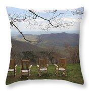 Mount Pisgah View Throw Pillow