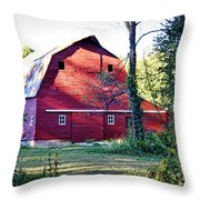 Mount Pleasant Road Barn Throw Pillow