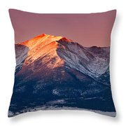 Mount Princeton Moonset At Sunrise Throw Pillow