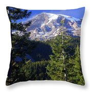 Mount Raineer 1 Throw Pillow
