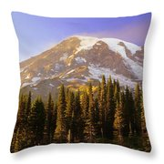 Mount Raineer 2 Throw Pillow